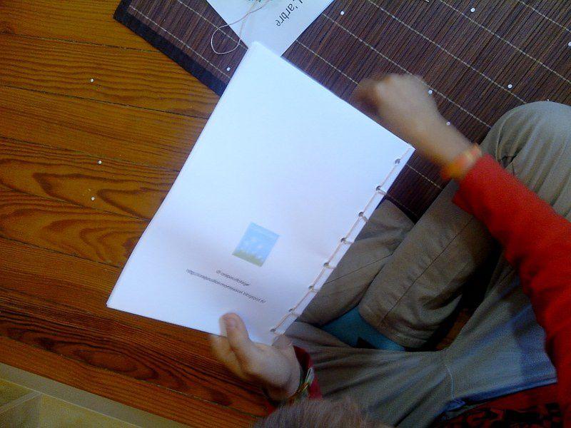 Certains enfants ont voulu aussi faire un petit livre sur la feuille.