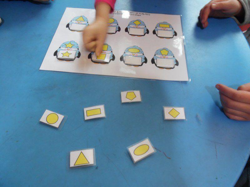 Les formes géométriques.
