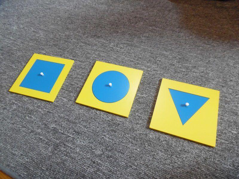 Présentation du premier tiroir du cabinet de géométrie et leçon en 3 temps.