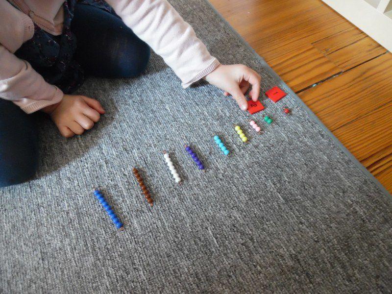Perles Montessori.