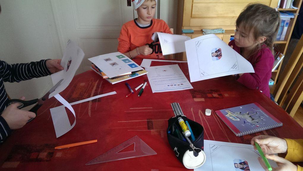 J'ai aidé les plus jeunes à trouver ce qu'ils devaient écrire tandis que Lucas a fait des recherches sur Internet pour trouver les éléments principaux de la biographie de Tanguy.