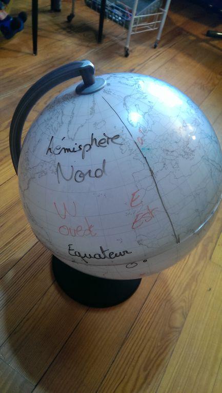 Petite leçon sur l'Equateur,, les méridiens, les parallèles, la latitude et la longitude.