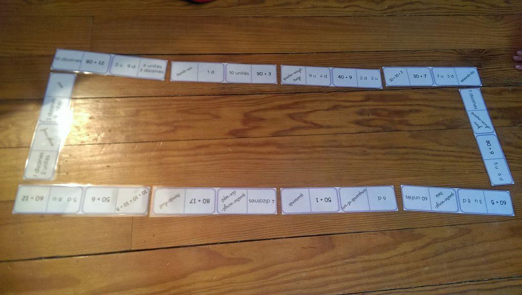 Un jeu de l'oie sur les dizaines et les unités.