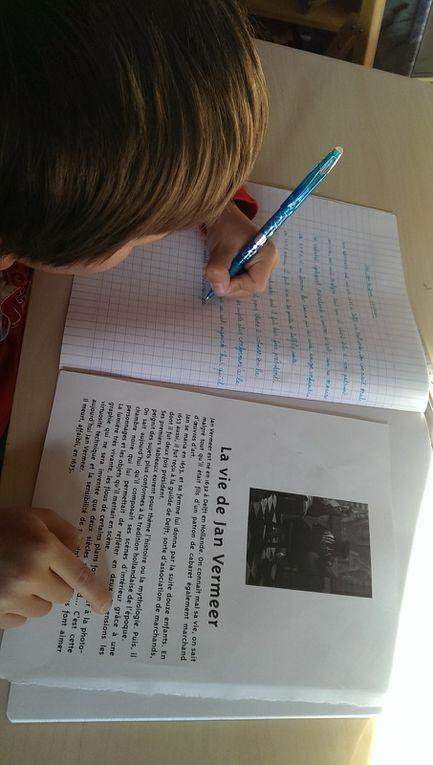 Les enfants adorent ces moments de copie et encore plus le dessin qui va avec !