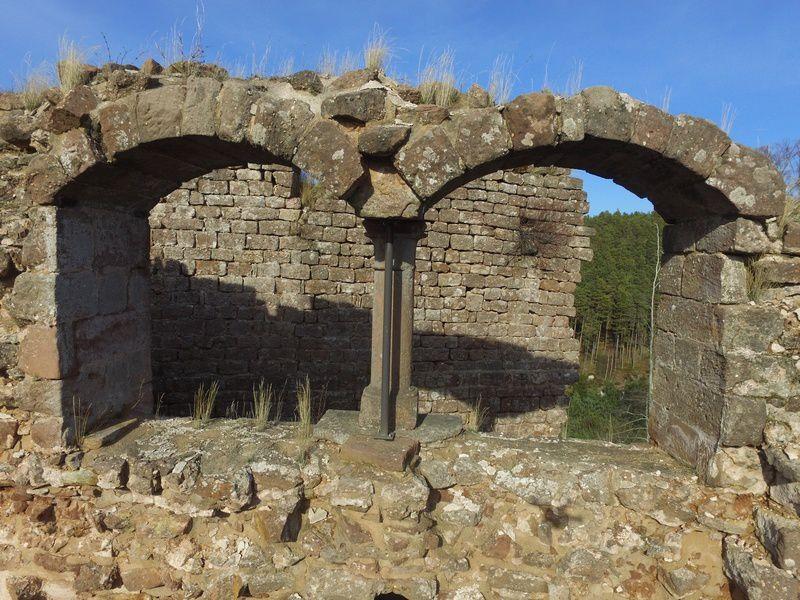 Les châteaux de Dreistein, vus du ciel