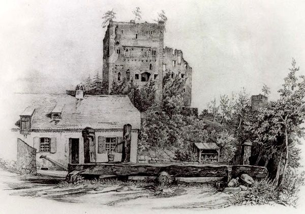 Dessin de Louis Laurent-Atthain, 1836