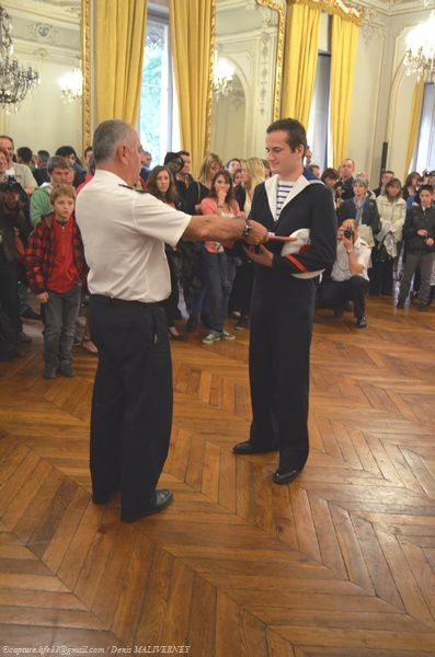 Premier récipiendaire Le Major de la Promotion Enseigne de Vaisseau Jacoubet