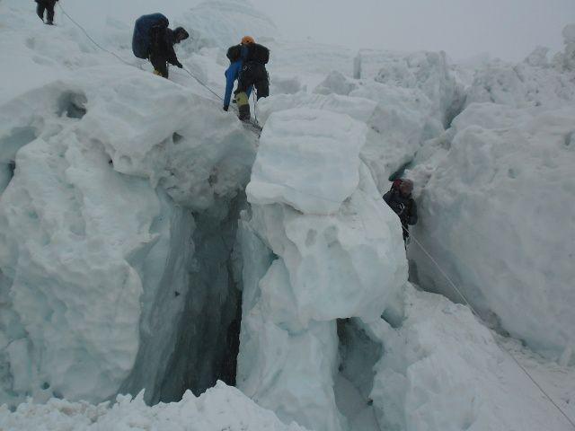L'Ice Fall - gros tas de glace instable !