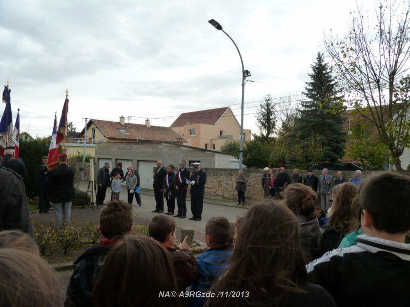 Wolfgantzen : cérémonie commémorative avec les enfants de l'école primaire