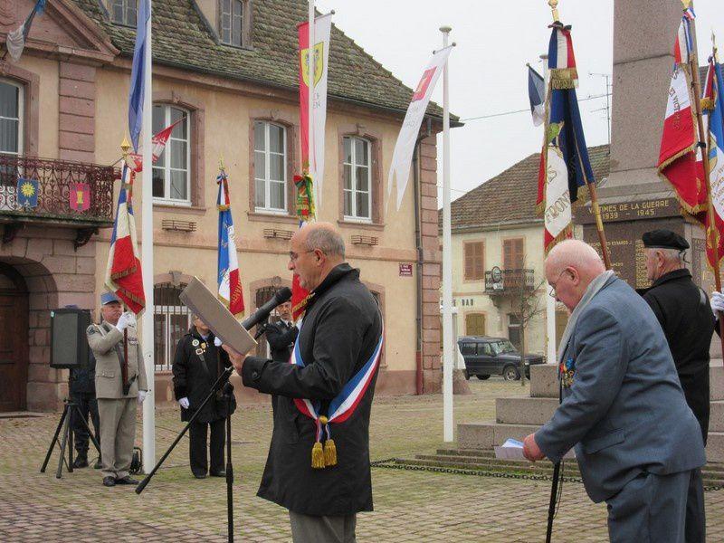 Cérémonie du 5 décembre 2014 à Neuf-Brisach