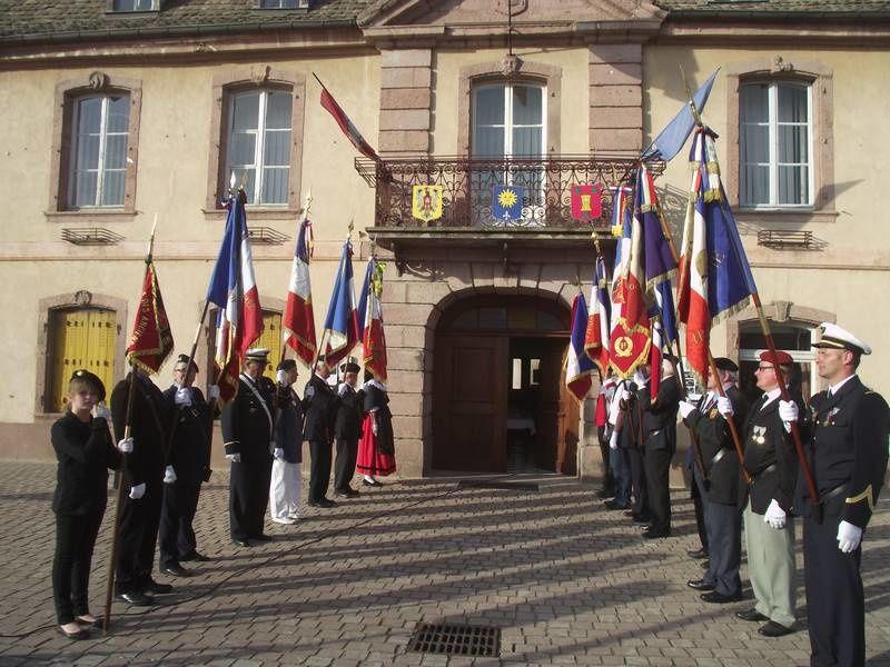 Hommage aux porte-drapeaux en ce 14 juillet 2016