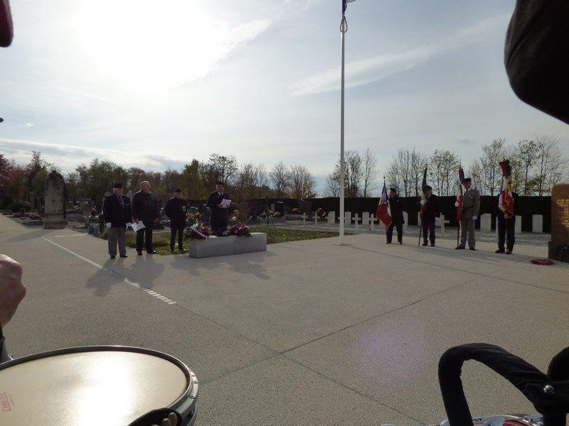 Cérémonie du Souvenir au Carré Militaire de Neuf-Brisach le 2 novembre 2017