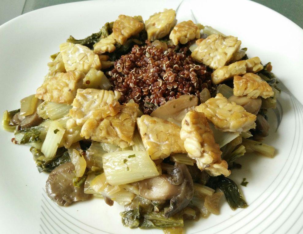 Bok Choy, tempeh et quinoa