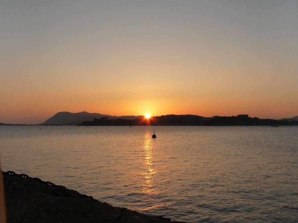 Coucher de soleil sur la rade le 20 novembre 2011