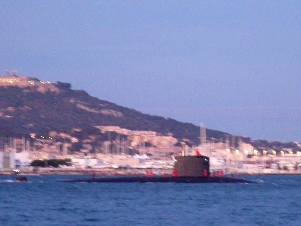 AMETHYSTE  S605 , rentrant au port de Toulon