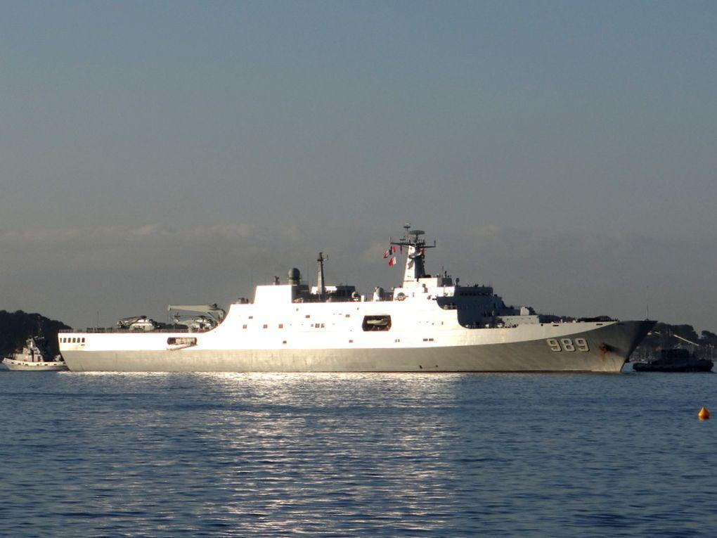 CHANGBAI  SHAN 989 , batiment amphibie de la marine chinoise