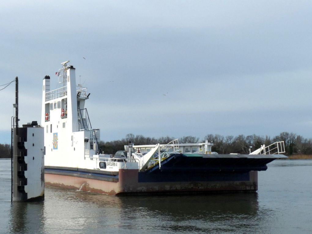 BARCARIN 4 , bac pour la traversée du Rhone  de Port St Louis du Rhone au Salins de Giraud