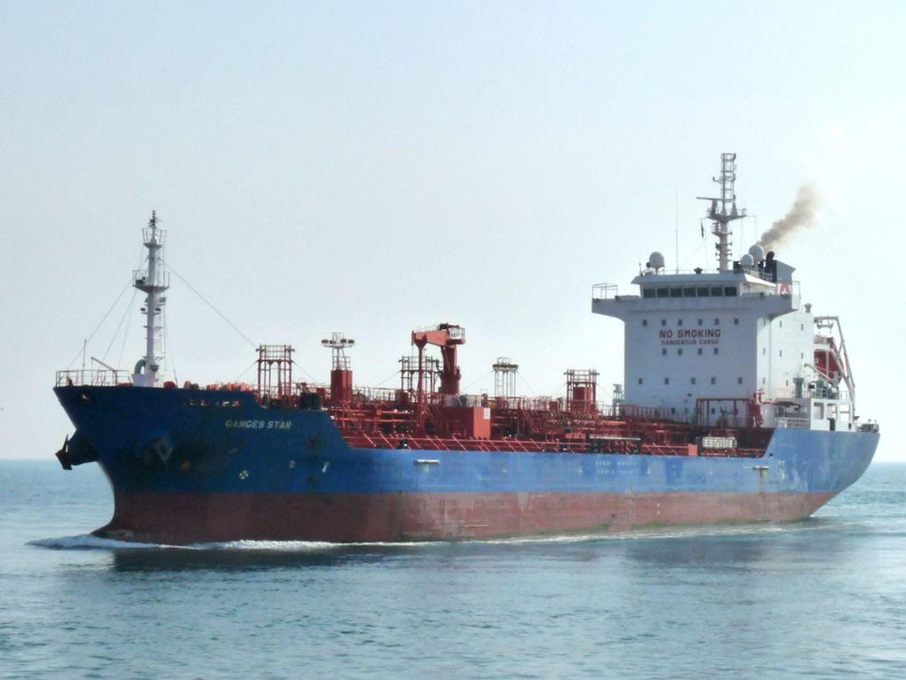 GANGES STAR  , Arrivant a port de Bouc  et embouquant le canal de Martigues pour l'étang de Berre le 19 mars 2015