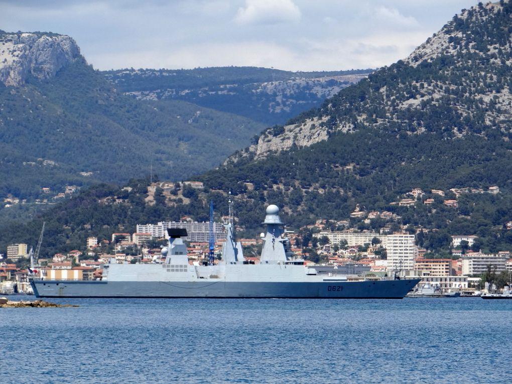 CHEVALIER PAUL , D621 , frégate anti aérienne , appareillant de Toulon le 03 juin 2016