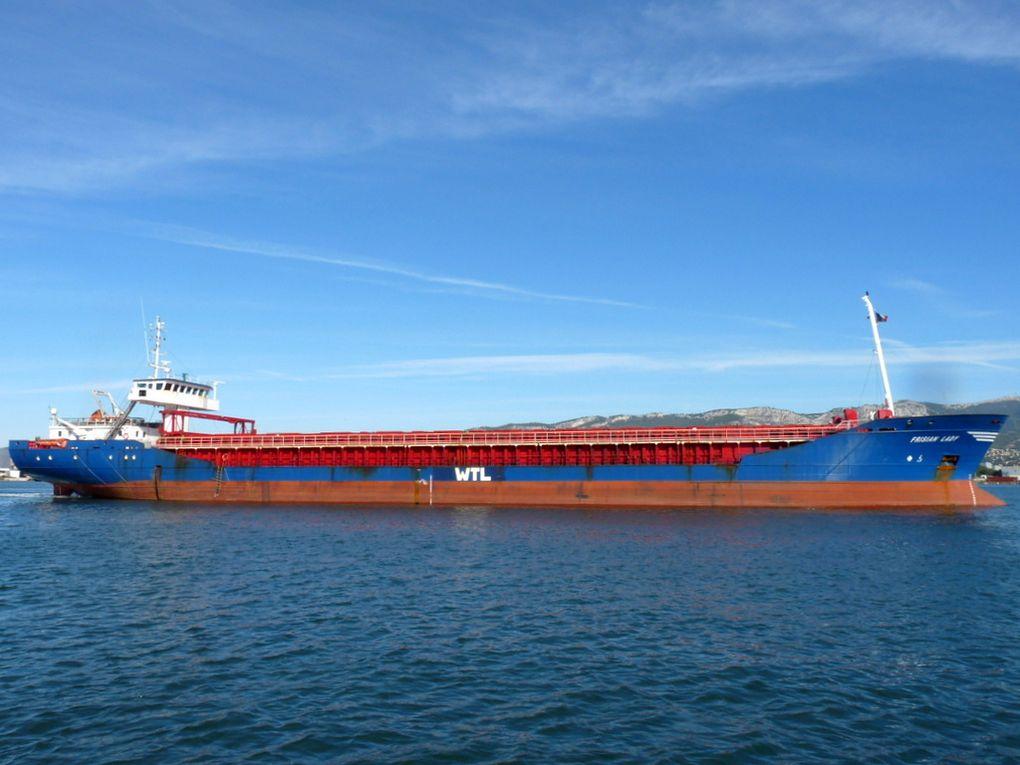 FRISIAN  LADY , a quai et appareillant de la Seyne sur Mer le 20 octobre 2016
