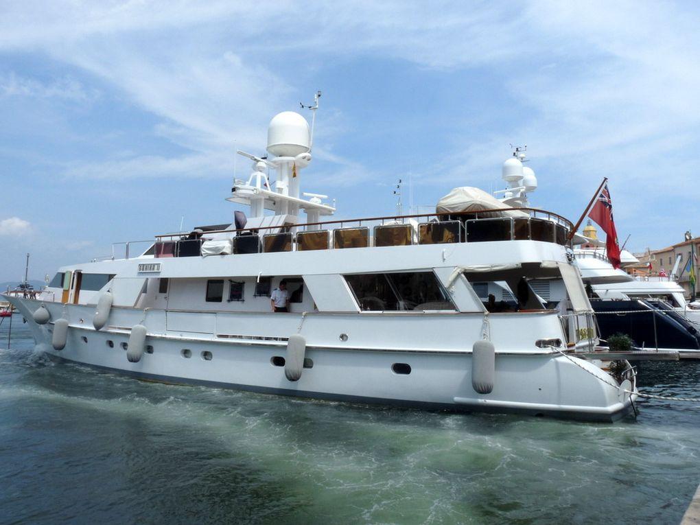 BAHIRA II , dans le port de Saint Tropez le 18 aout 2016