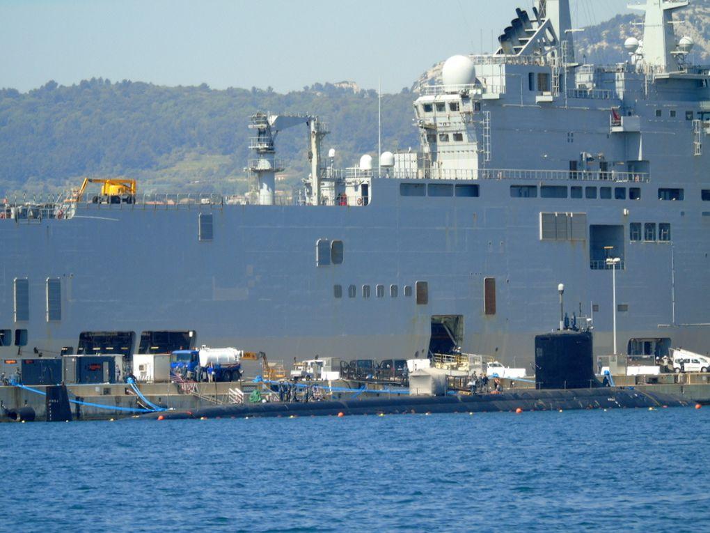 NEW  MEXICO  SSN 779 , sous marin de la marine américaine à Quai à Toulon le  07 avril 2017