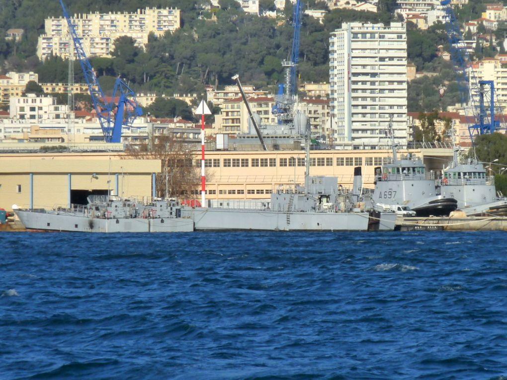CDIC & CTM brésilien  à Toulonle 12 janvier 2016 , ils ne portent pas encore de noms , ex batiments français vendu au Brésil
