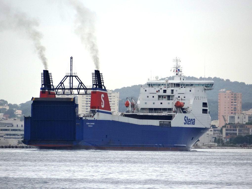 STENA CARRIER , arrivant à Toulon le 15 juin 2016