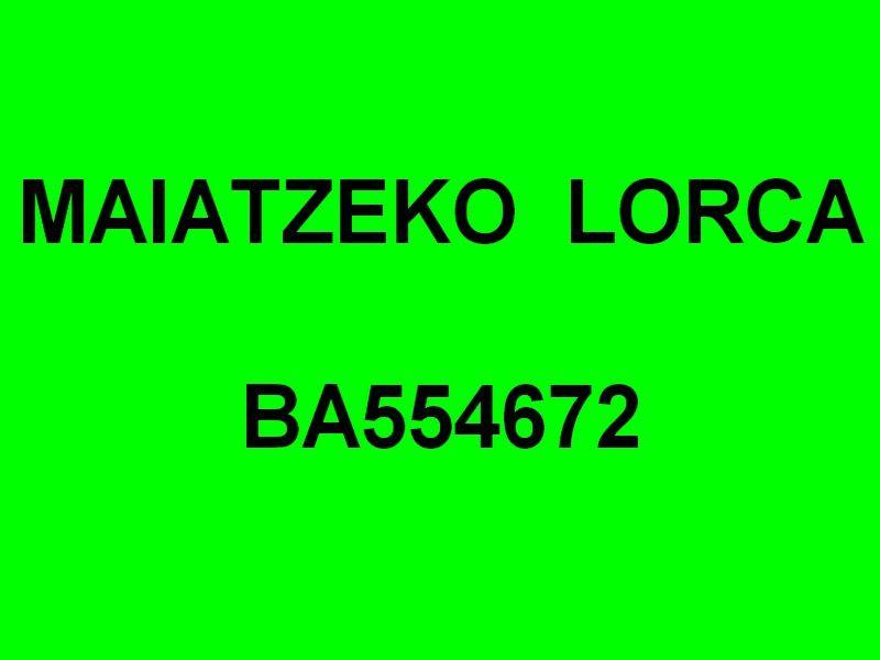 MAIATZEKO LORCA  BA554672 , dans le port de Saint Jean de Luz