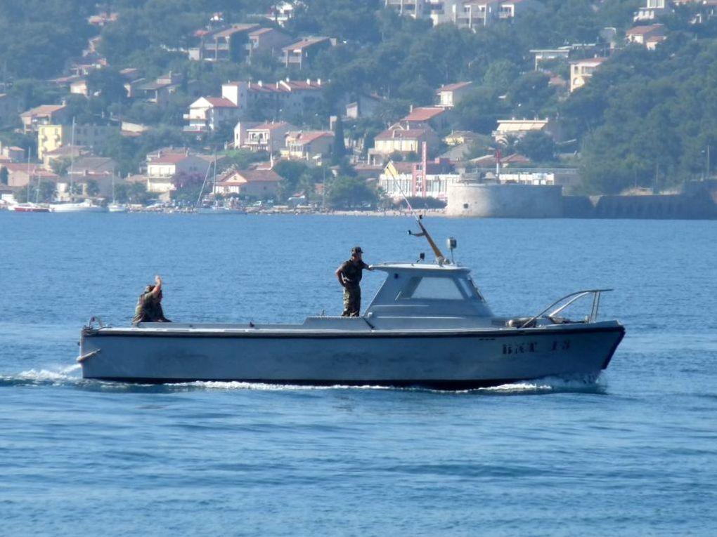BNT 13 , vedette de surveillance de la rade et du port  . (BNT : Base Navale Toulon)