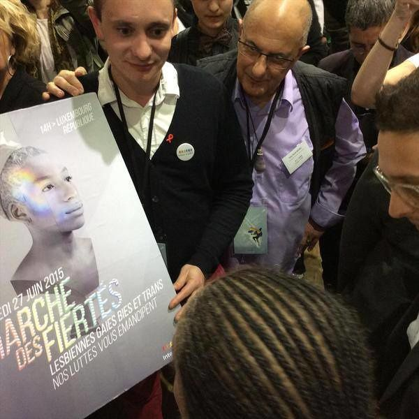 Visite de Christiane Taubira au printemps des associations de Inter-LGBT