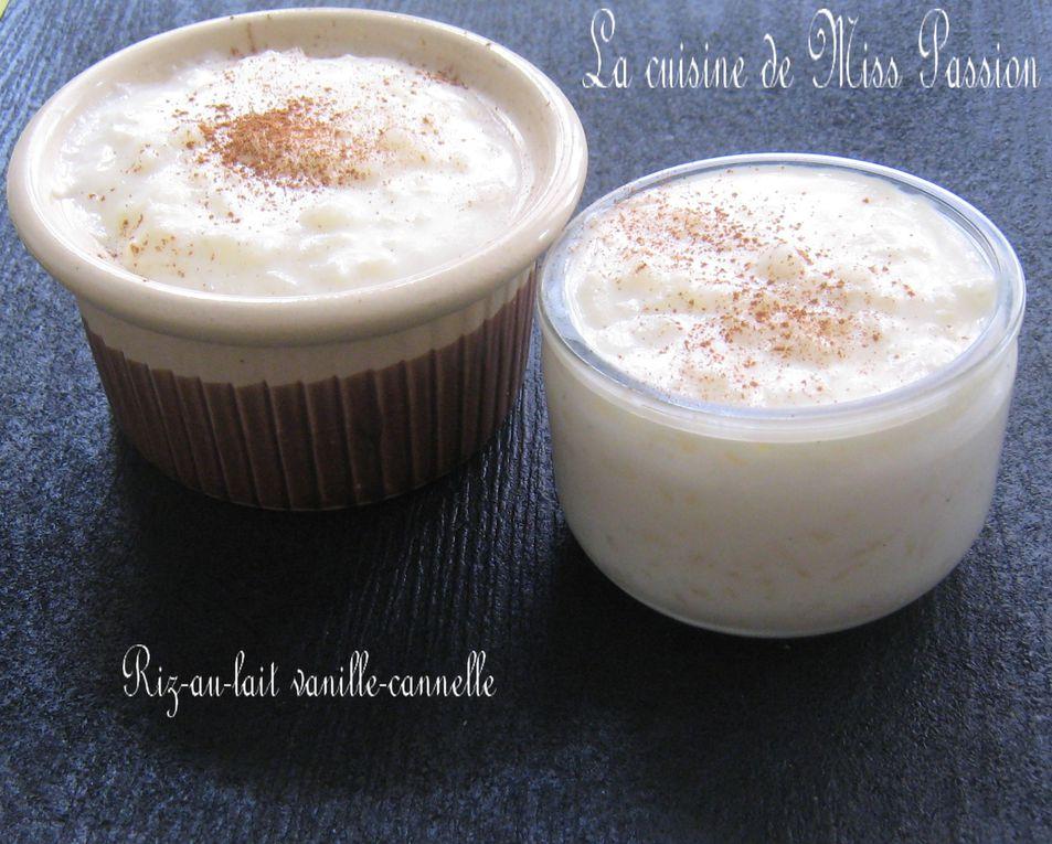 Riz au lait vanille et cannelle