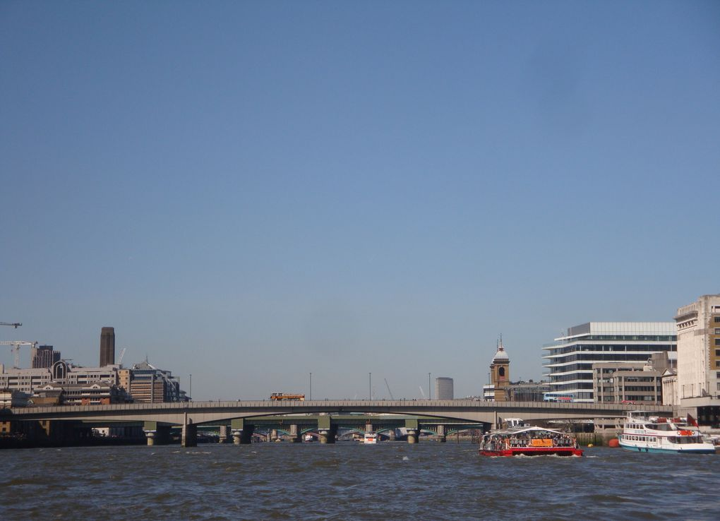 Waterloo bridge - The Shard - La City - London bridge - Blackfriars bridge - Millenium bridge - Southwark bridge