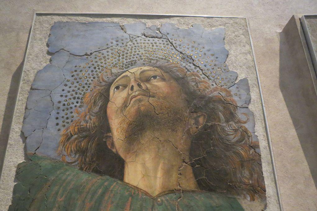 Melozzo da Forli, tête d'apôtre et anges musiciens -1480 env.