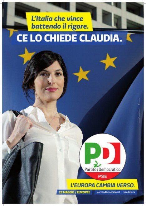 I manifesti ufficiali della campagna per le europee del partito democratico