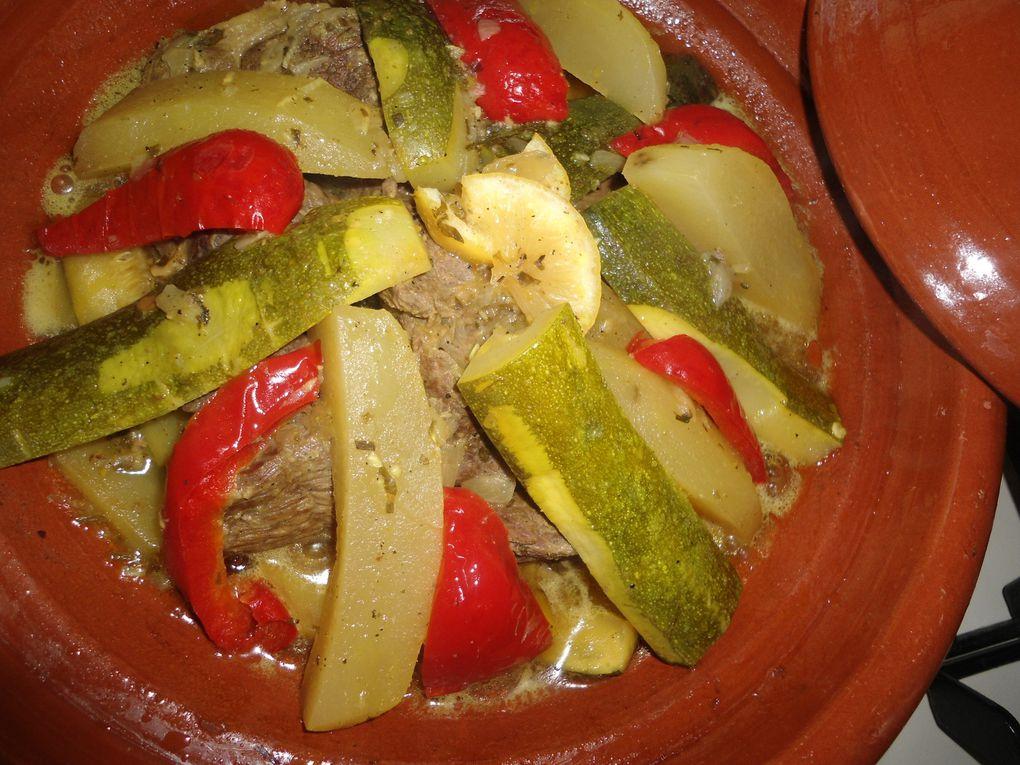 tajine de viande avec légumes