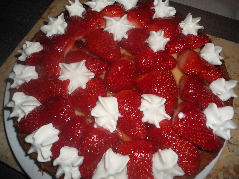 Tarte de fraise avec crème d'amende