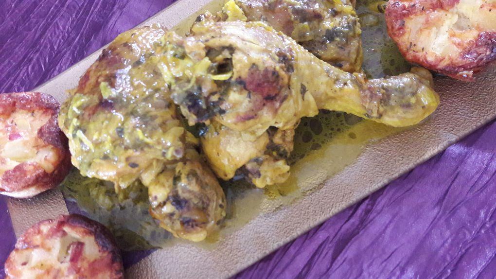 Poulet rôti à la marocaine