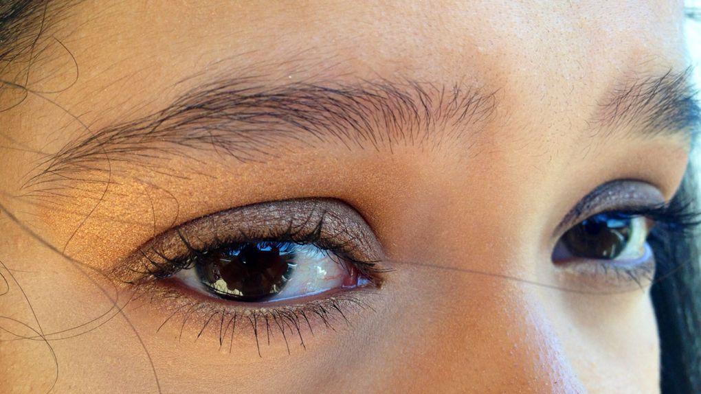 Make up dans les tons cuivrés