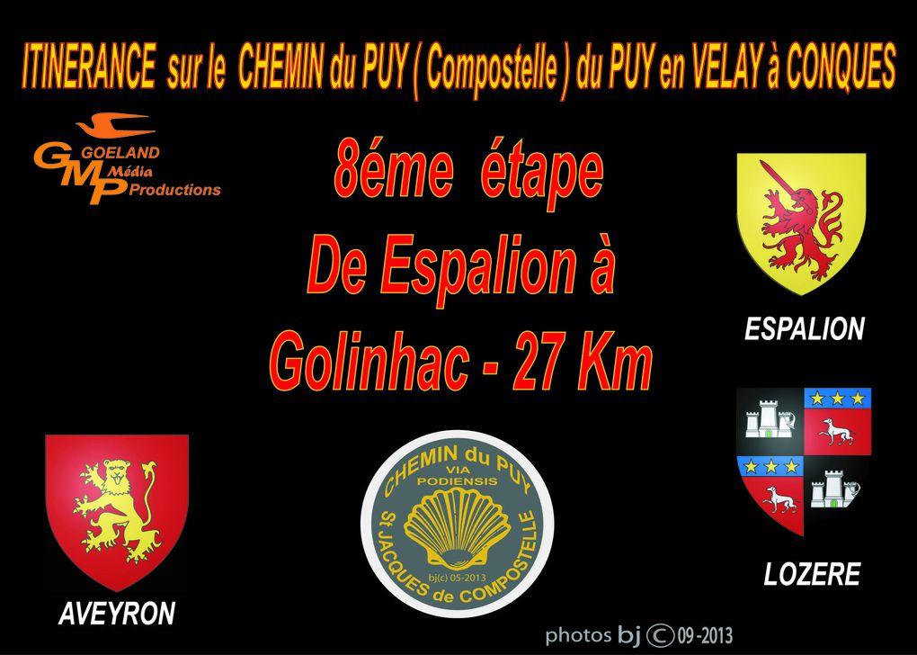 ETAPE 8 - d' ESPALION à GOLINHAC - Fin d'étape 27 Km
