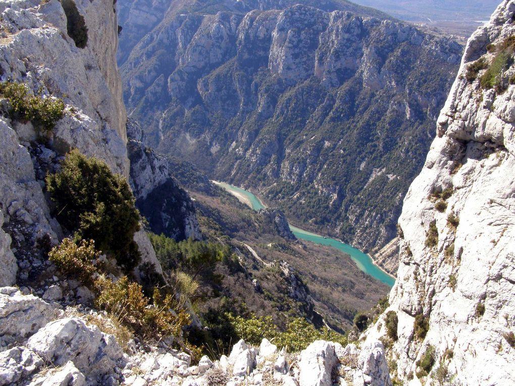CRETES de PLEIN VOIR - bas du canyon du Verdon - LAC de Ste CROIX