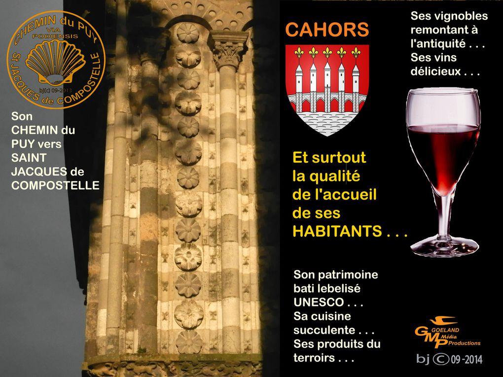 """PAS à PAS, DANS les RUES de CAHORS ( Lot ) - Sur le """" CHEMIN """" ( VIA PODIENSIS )"""