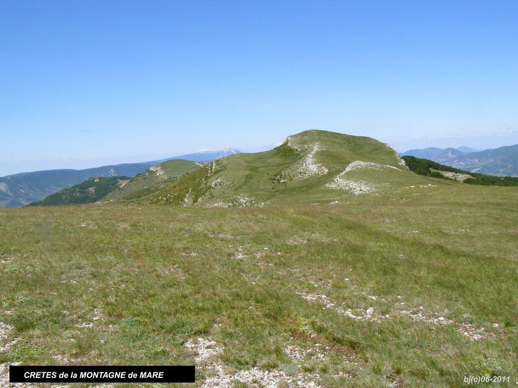 EOURRES et la MONTAGNE de MARE - Hautes Alpes - entre vallée du Roubion et de la Méouge -