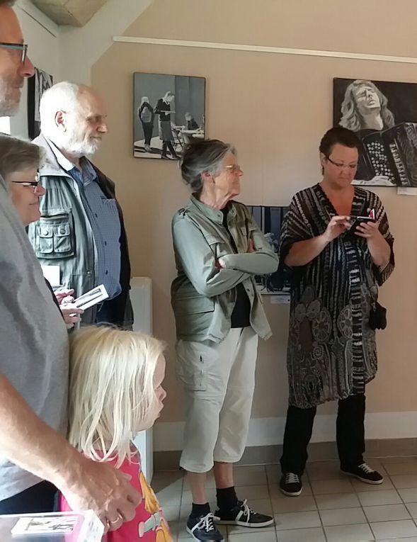 Nos Artistes au Danemark... leur vernissage !