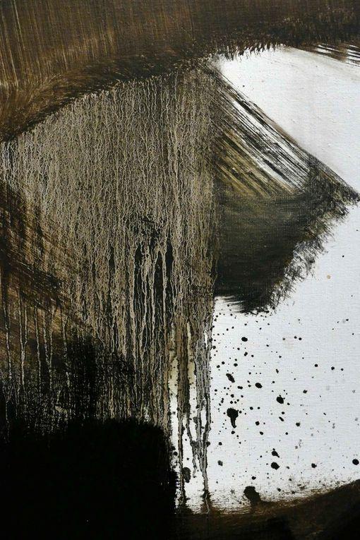 Pierre Soulages détails du tableau ci dessus photos R.Levaché