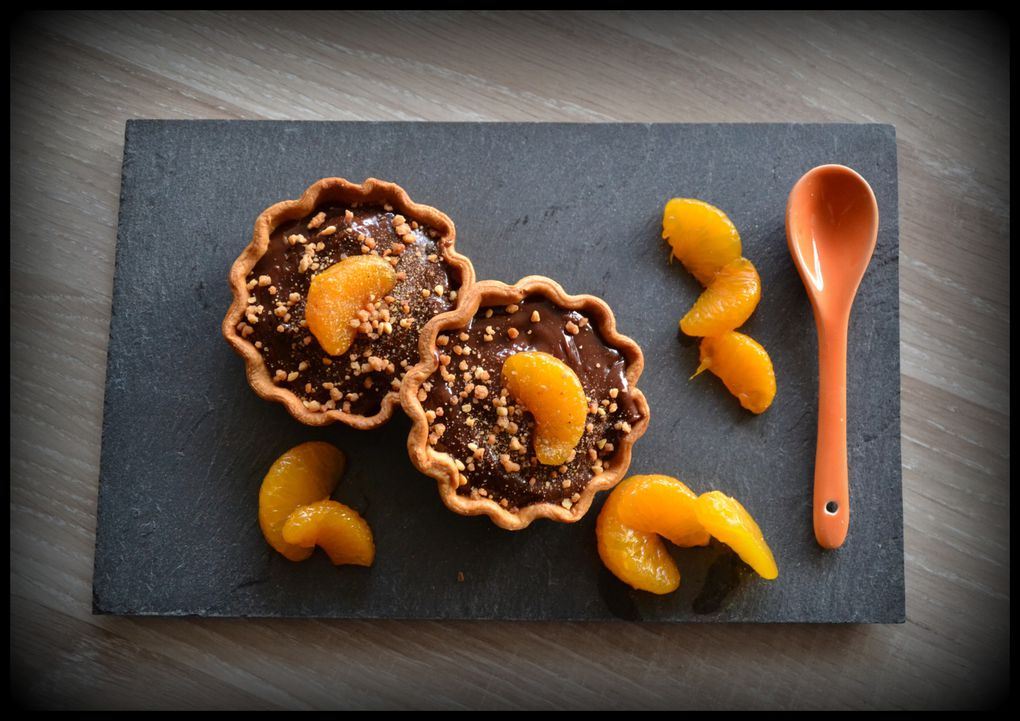 Tartelettes choco-mandarine