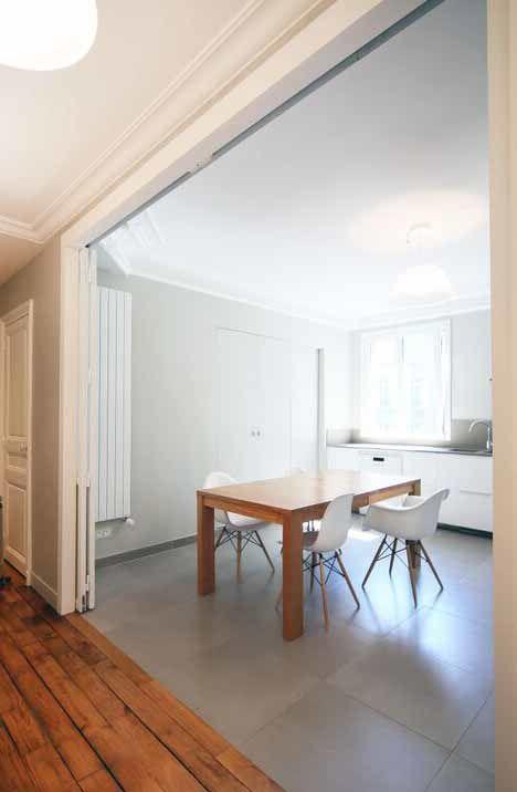 Travaux achevés dans un appartement haussmannien de 120 m2
