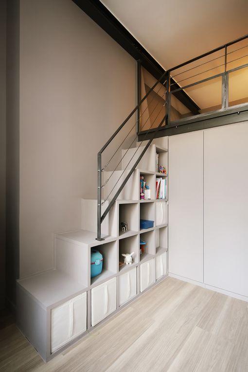 Le blog d 39 une architecte d 39 int rieur ce blog est d di mon m tier - Escalier pour mezzanine ...
