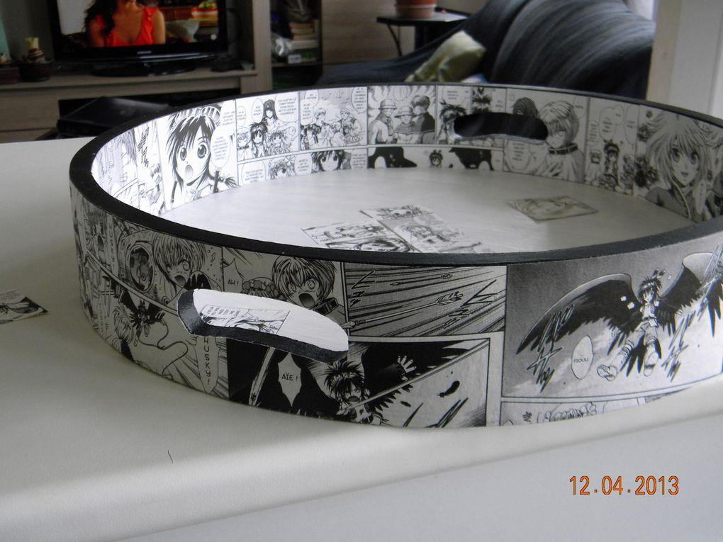 Plateau Manga en résine cristal