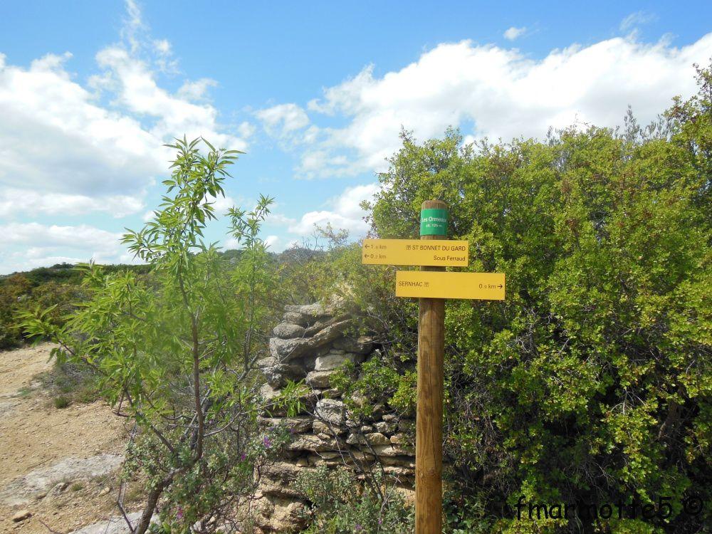 Diaporama : GR6 Pont du Gard, St Bonnet du Gard, Sernhac.